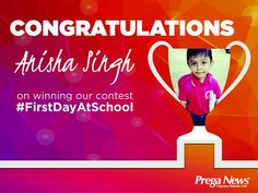 Parents, congratulate Anisha Singh and her little one on winning our #FirstDayAtSchool contest!  And thank you all so much for participating with such enthusiasm and sharing your love!
