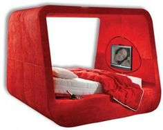 this bed massages, reclines and has a tv!!