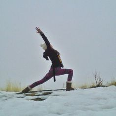 Yoga In The Snow Proves It's Never 'Too Cold' To Get Moving