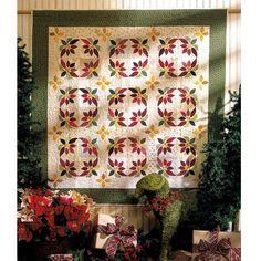 Poinsettia Wreaths.....Beautiful Christmas Quilt