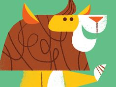 Awesome dancey lion #illustration by Lydia Nichols