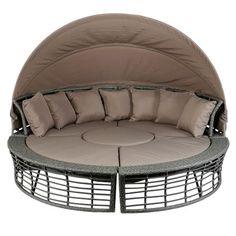 Set canapea gradina cu baldachin Kring, masuta si 2 scaune - https://ideidesigninterior.ro/set-canapea-gradina-cu-baldachin-kring-masuta-si-2-scaune/