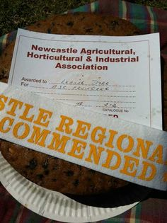 2012 Newcastle Show - ASC Fruit Cake - Commended