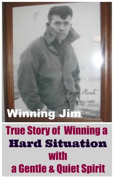 True Story of Winning a Hard Situation by a Gentle & Quiet Spirit. Jim Hultquist as rebellious young man before he went to prison. Save My Marriage, Marriage Advice, Daughters Of The King, Walk By Faith, Married Life, Powerful Words, Christian Life, Spiritual Growth, Faith Quotes