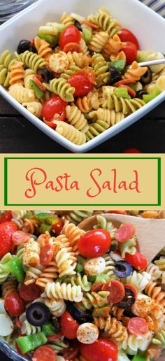 This pasta salad will be a hit at any potluck. The mozzarella cheese and the pepperonis mixed with fresh vegetables and pasta are always a big hit. Italian Dressing Pasta Salad, Italian Salad, Italian Pasta, Salad Dressing, Hamburger Side Dishes, Side Dishes For Bbq, Side Dish For Hamburgers, Vegtable Salad, Healthy Hamburger