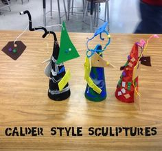 Mrs. Knight's Smartest Artists: 3rd grade Calder Sculptures