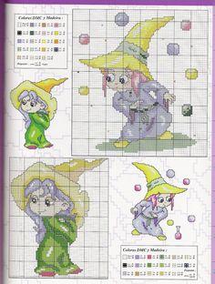 Schematic cross stitch Witch 4