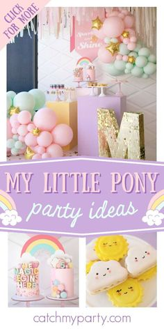 Don't miss this beautiful My Little Pony birthday party! The cakes will blow you away! See more party ideas and share yours at CatchMyParty.com My Little Pony Cake, My Little Pony Birthday Party, Girls Birthday Party Themes, Girl Birthday, Birthday Parties, Rainbow Parties, Party Activities, Party Favors, Party Ideas