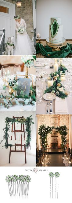 Beautiful white and green winter wedding ideas on GS Inspiration - Glitzy Secrets