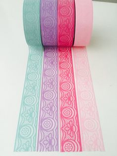 Victorian Lace Washi Tape in 4 Colors by GoatGirlMH on Etsy