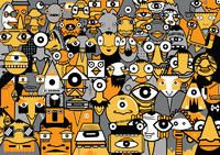 graffiti art paint - crowd illustration poster street artist modern painting new Art Painting Tools, Yarn Painting, Graffiti Art, Modern Art Prints, Street Artists, Paintings For Sale, Illustrations Posters, Art Posters, Digital Illustration