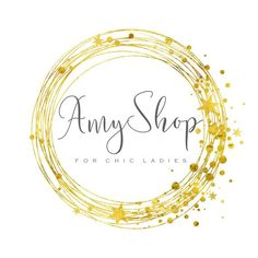Photography logo, Custom logo design, gold logo, round circle dots photography…