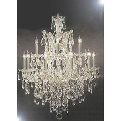 "Chandelier Lighting Crystal Chandeliers H30 ""X W28"""