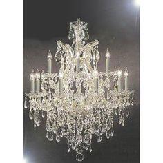 "Chandelier Lighting Crystal Chandeliers H30 ""X W28"""