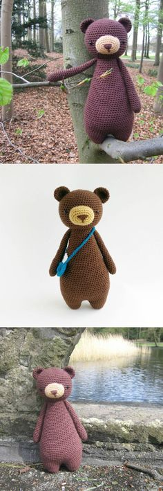Bear pattern by Little Bear Crochets: www.littlebearcrochets.com � #littlebearcrochets #amigurumi