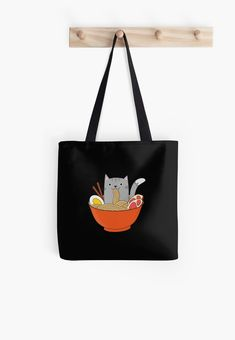 Durable, easy to carry shopping bag with sublimated print on both sides Super strong 1 inch wide cotton shoulder strap Soft yet durable spun polyester poplin fabric Gentle machine wash Ramen Bowl, Fair Trade Fashion, Buy A Cat, Poplin Fabric, Chiffon Tops, Cat Lovers, Shopping Bag, Shoulder Strap, Reusable Tote Bags