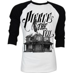 Pierce the Veil Vic Mike Fuentes Post Hardcore A Flair for the... (395 MXN) ❤ liked on Polyvore featuring tops, shirts, long sleeves, pierce the veil, band merch, long sleeve shirts, baseball shirts, vintage baseball shirts, vintage shirts and long tops