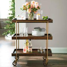 Oak Park Bar Cart Bar Cart Styling, Bar Cart Decor, Tray Styling, Tray Decor, Food Trolley, Bar Trolley, Serving Trolley, Bar Carts, Drinks Trolley