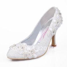 2+Inch+Ivory+Wedding+Shoes | EL 003 Ivory Red Round Toe Bow Rhinestone Lace Wedding Bridal Shoes ...