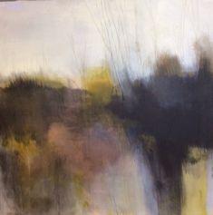 ' A dark faded landscape,' by Tonie Rigby,acrylic on board,52 cm sq.