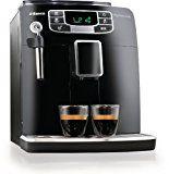 Saeco HD8751/95 Intelia Kaffeevollautomat (Keramikmahlwerk, 5-stufig, Dampfdüse) schwarz