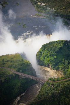 #Mighty #Victoria #falls with #bridge