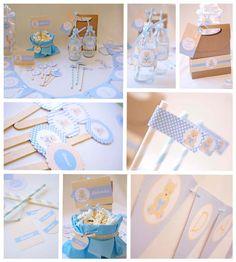 Hazlo especial...: Decoración Baby Shower, Bautizo o Nacimiento para niño.
