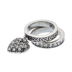 """Charms (Size 8) Stacking Rings Stack your look with sweet details and delicate shine, or wear them separately when all you need is a bit of simple charm. Charms Collection  •  Silver tone  •  Available in size 7 or 8  •  Set of 2  •  .38"""""""" width, .5"""""""" charm   https://myfashions.graceadele.us/GraceAdele/Buy/ProductDetails/10294"""