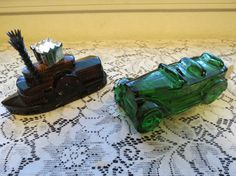 vintage avon bottles old car and steam boat by MyVintageAngels, $18.00