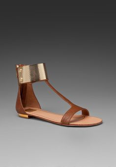 DOLCE VITA Bagley Leather Sandal in Tan at Revolve Clothing