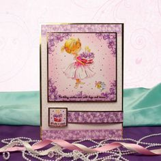 All the Girls by Hunkydory Crafts. Card made using 'Make a Wish' topper set