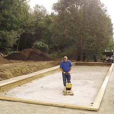 how to build a bocce court from TOH