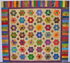 this is the quilt she had the wonderful quilting in the blocks
