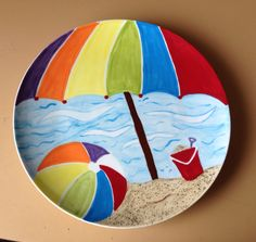 I made this hand painted ceramic dinner plate for fun. :-)