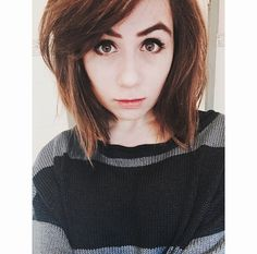 Hairstyles For Short Hair Dodie : Bangs Short Hair on Pinterest Shorter Hair, Short Hair and Grown Out ...