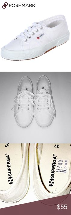 White Superga's excellent condition SZ 7 In excellent condition Superga Shoes Sneakers