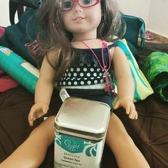 Day #17 of my #meetyourmatcha challenge! Even American dolls need a little Matcha ;-) #steepedtea http://www.steepedtea.com