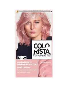 L'Oreal Colorista Rose Gold Permanent Gel Hair Dye| L'Oréal Paris | 1001 Cabelo Rose Gold, Rose Gold Hair Dye, Rose Gold Hair Brunette, Pink Hair Dye, Dye My Hair, Your Hair, Blonde Hair, Permanent Hair Dye Colors, Hair Colour Design