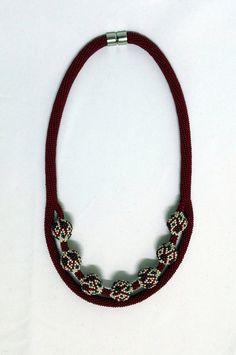 Set Necklace Necklace Beaded Necklace Beaded by NazoDesign
