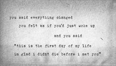 First Day of My Life by Bright Eyes Lyrics