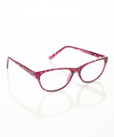 49a61db943 Take a look at this Purple Tortoise Square Eyeglasses by Adrienne Vittadini  on  zulily today