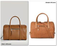 """Bolso tipo bowling modelo """"Madeleine"""" de Chloé (1.450€) vs. bolso nueva coleccion de Uterqüe (149€)  #bag #fashion #shopping #sales"""