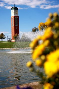 Clock tower at Grand Valley State University - Allendale, Michigan