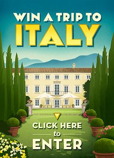 Enter to win a trip to Italy for 2. Includes Round-trip airfare, Ground transportation to Lucca, Italy, 7 Nights in a beautifully restored 18th century villa, Hands-on cooking classes,  Daily breakfast, Welcome Dinner & Farewell Dinner. Choice of Travel Dates: October 3-10, 2015: Gluten Free in Italy or October 10-17, 2015: Cooking with Einkorn. Ends June 30, 2015