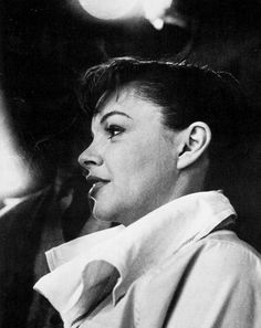 Judy Garland on the set of A Star is Born, 1954