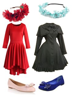 """""""for my book"""" by michelletheotaku2 ❤ liked on Polyvore featuring Chicwish, Salvatore Ferragamo, Full Tilt and Rock 'N Rose"""