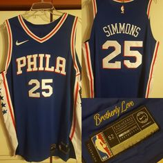 Ben Simmons 2017-18 Philadephia 76ers authentic jersey #phila #philadelphia #philasixers #philadelphia76ers #76ers #sixers #nba #nbaroy #roy #rookieseason #swag #dope #nike #brotherlylove #bensimmons