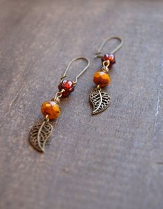 Hey, I found this really awesome Etsy listing at http://www.etsy.com/listing/89649955/pumpkin-leaf-earrings-fall-woodland