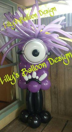 倫☜♥☞倫 Purple Minion balloon sculpture art ....♡♥♡♥♡♥Love★it