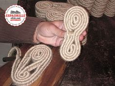 espadrilles - making the jute rope sole